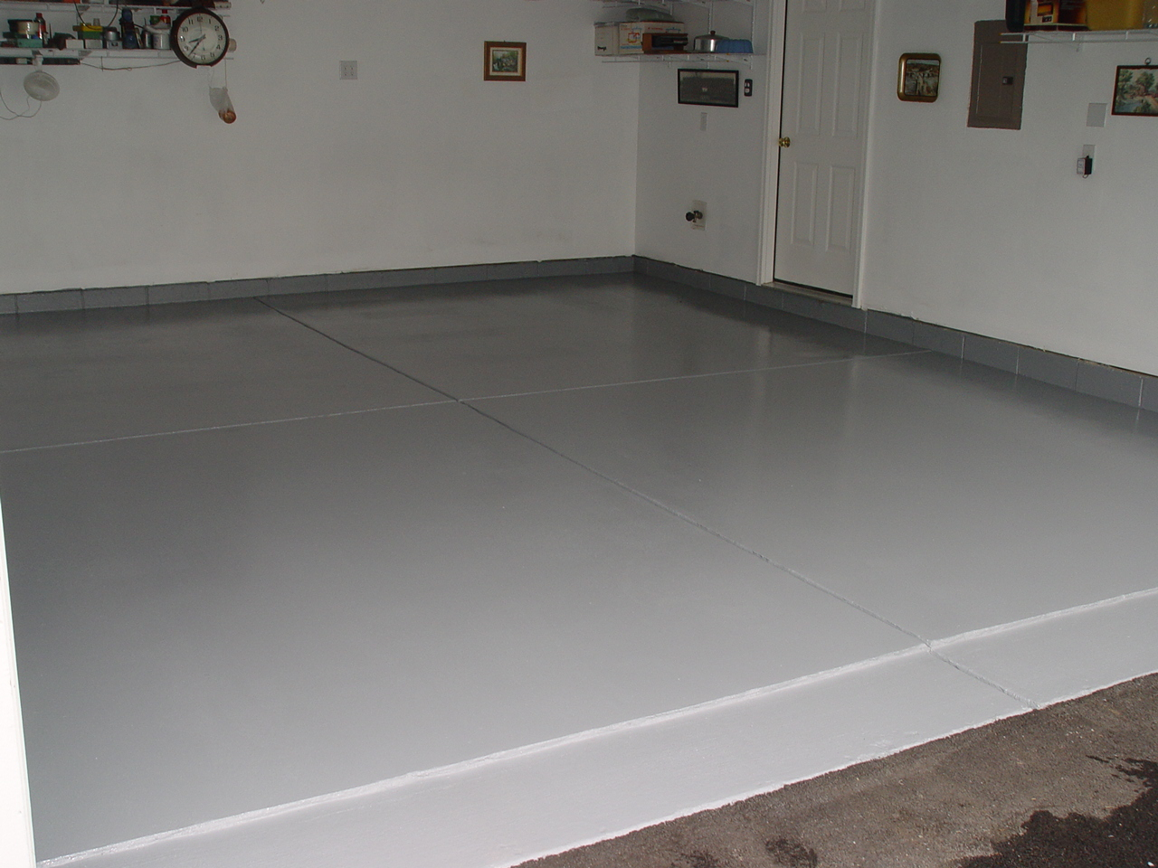 Paint guy inc 614 837 8477 for Garge floor