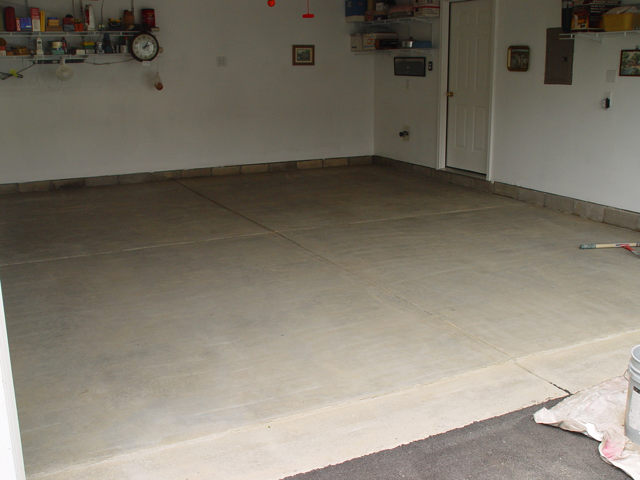 Paint guy inc 614 837 8477 for How to clean a garage floor without water